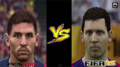 Pes 2015 vs Fifa 15 Speed Test