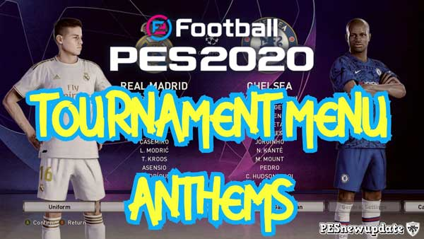 PES 2020 - как установить Tournament Anthems