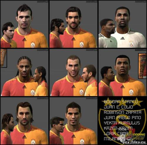 Pes 2011 Galatasaray Faces Pack