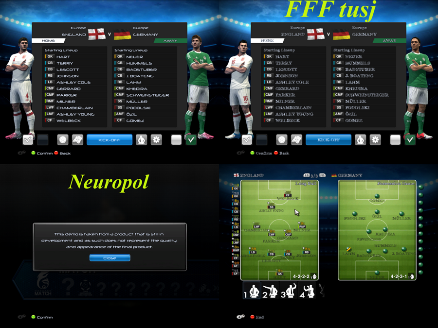 Fonts pack for PES2013