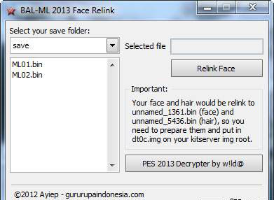 BAL-ML 2013 FACE RELINK TOOLS V.1.0.0