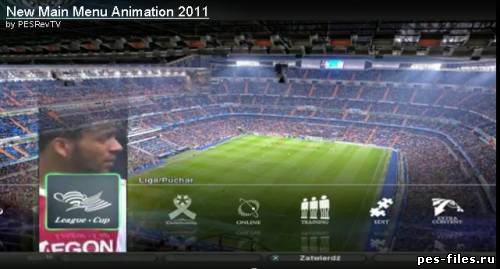 PES 2011 New Main Menu Animation 2011