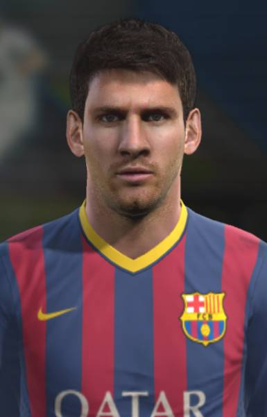 Pes 2013 Messi Face by ilhan