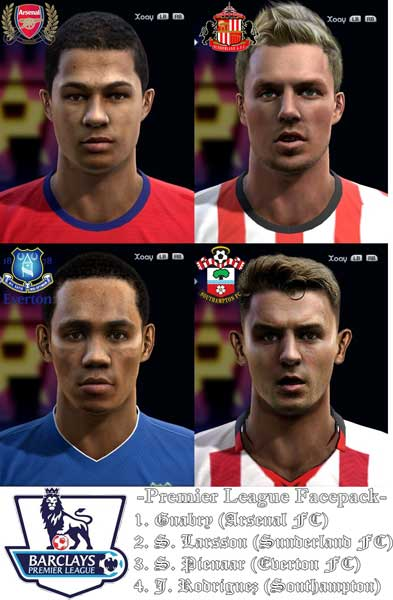 Pes 2013 Premier League Facepack by foxfcbarcelona