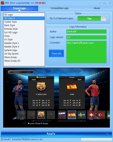 [PES 2013] LogoSwitcher 1.6 for PESEdit