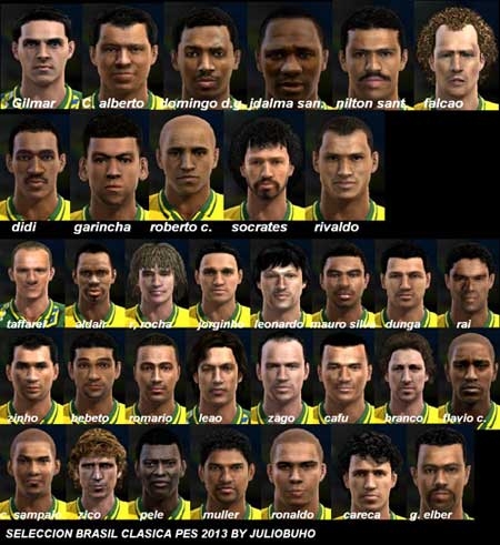 Pack Faces Brasil Clasico pes 2013