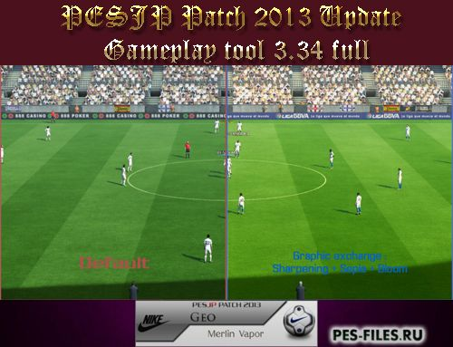 футбол 1 онлайн Update: PESJP Patch 2013 Update Gameplay Tool 3.34 Full, патчи и моды