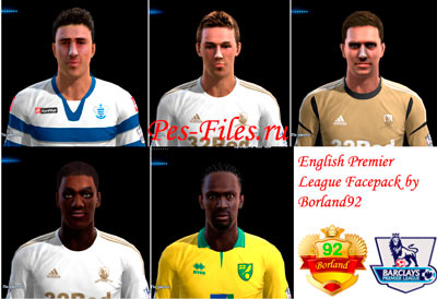 Pes 2013 EPL Facepack by Borland92