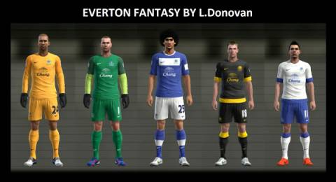 Pes 2013 Kits Everton FC Nike Fantasy by Donovan