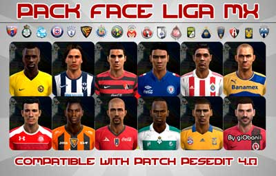 Pack Face LIGA MX v.1.0