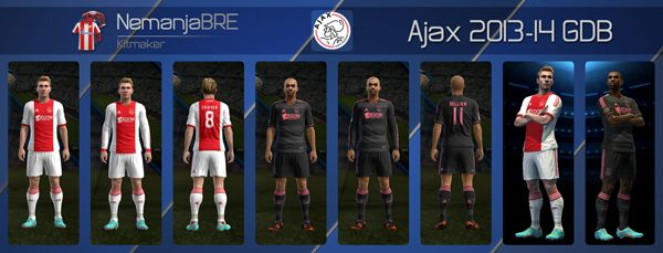 Ajax kits Pes 2013/14 GDB by Nemanja