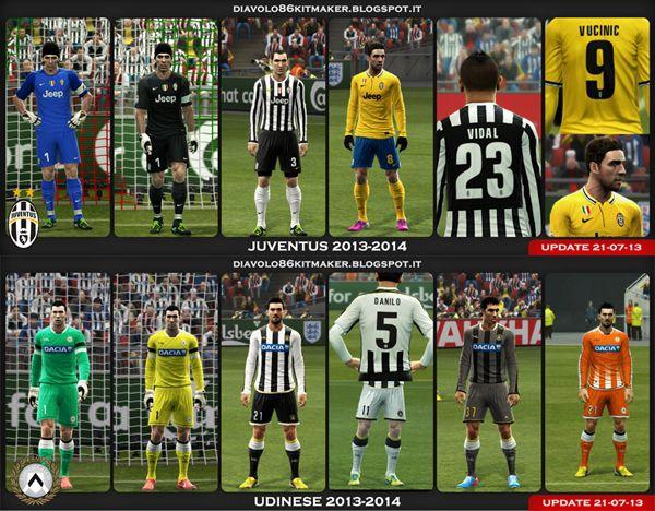 футбол 1 онлайн Update: Juventus & Udinese GDB Kit 2013/14 UPDATE 21.07.13, патчи