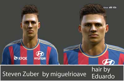 Pes 2013 Steven Zuber face by miguelrioave