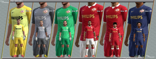 Pes 2013 Kits PSV Eindhoven 2013/14 by ALEPES