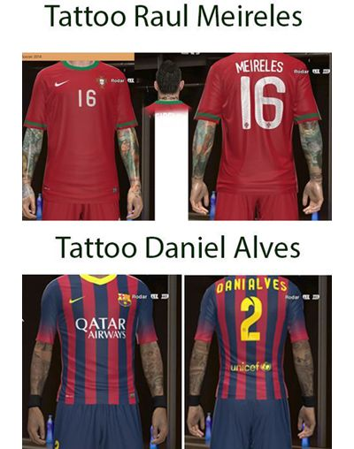 PES2014 Tattoo Daniel Alves & Raul Meireles