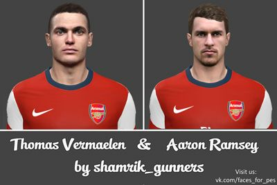 Face Pack Aaron Ramsey & Thomas Vermaelen