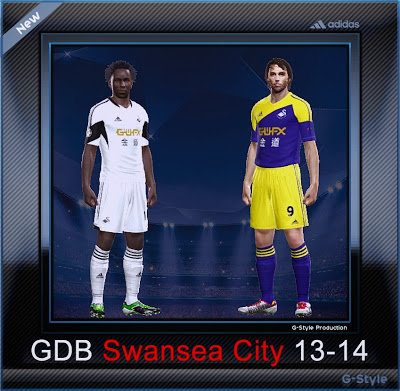PES 2014 Swansea City 2013/14 GDB Kits