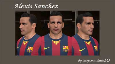 Alexis Sanchez Face