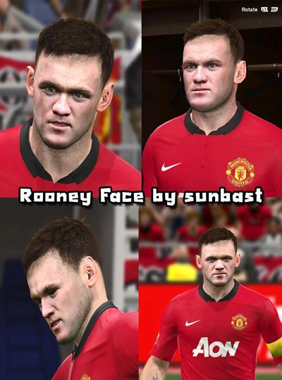PES 2014 Wayne Rooney Face by sunbast