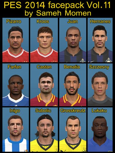 PES 2014 facepack vol.11