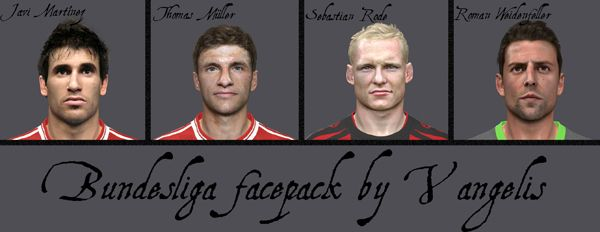Pes 2014 Bundesliga Facepack by Vangelis