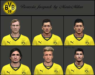 Borussia face pack