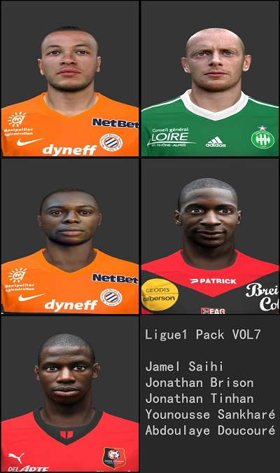 Faces Ligue1 Pack vol.7