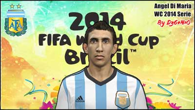 Pes 2014 Angel Di Maria face by Dzgenio