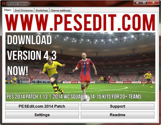 PESEdit.com 2014 Patch 4.3