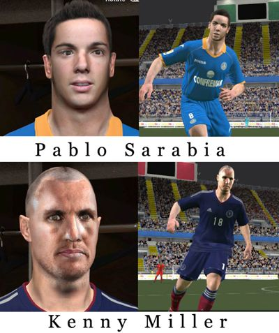 Kenny Miller & Pablo Sarabia face 2014
