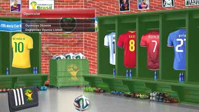 PES 2014 Fifa World Cup Dressing Room