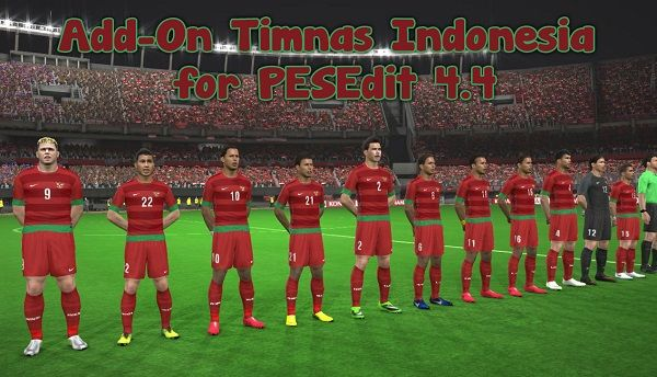 Add-On Timnas Indonesia For Pesedit 4.4