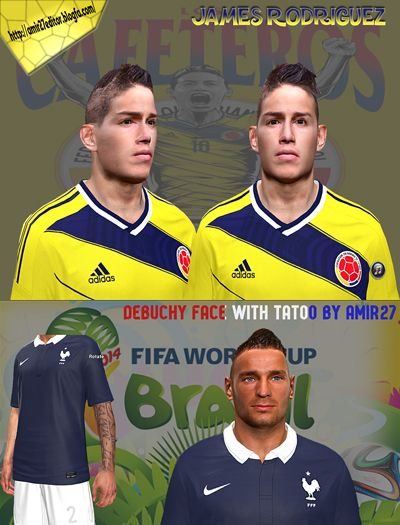 James Rodriguez & Debouchy New Face With tattoo