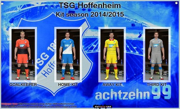 Pes 2014 Kits Hoffenheim 2014/15 by Antonio_AHA