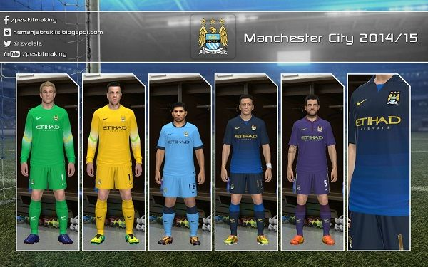 Manchester City Kits 2014/15