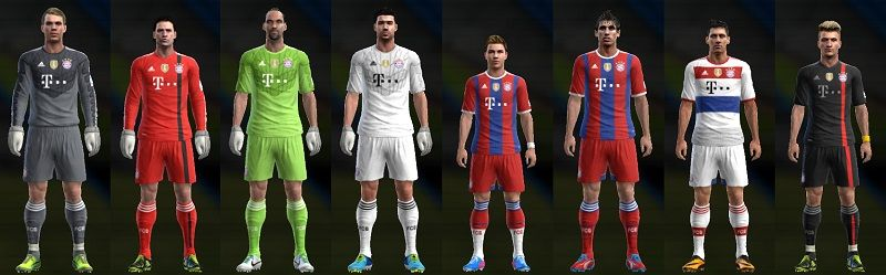 New Kits Bayern Munich 14/15 V...