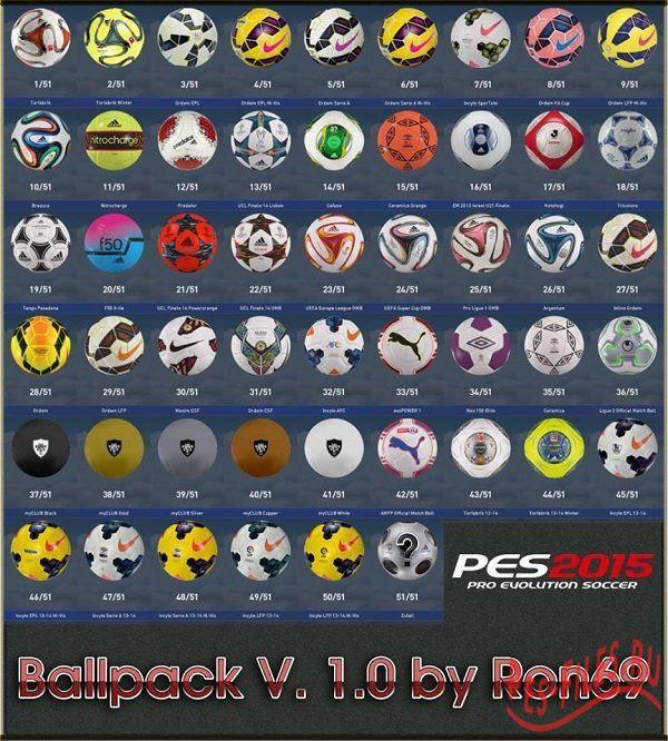 PES 2015 Ballpack 1.0