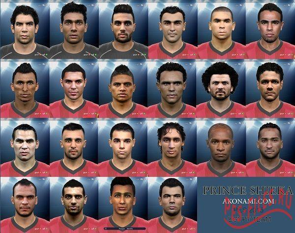 PES 2015 Egypt Team Facepack