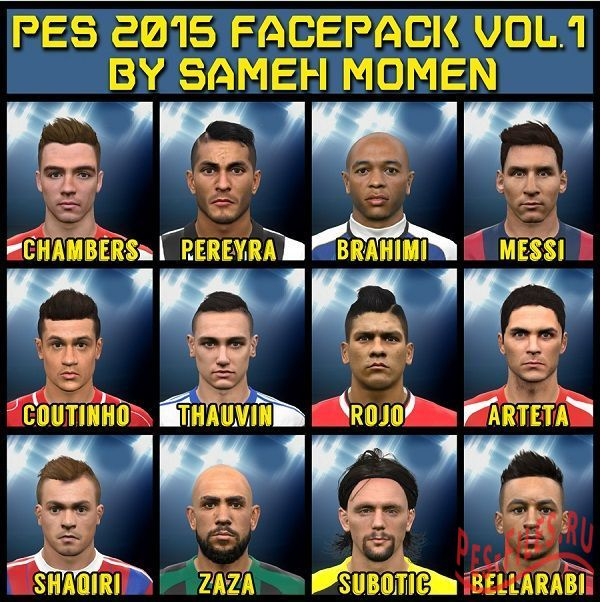 Pes 2015 Face Pack Vol.17