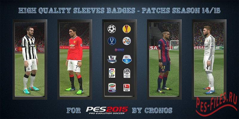 High Quality Sleeves Badges - Patchs Season 14/15
