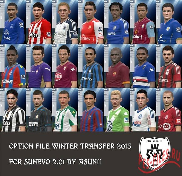 Option File Winter Transfer 2015 for SunEvo 2.01