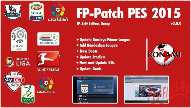 FP-Patch PES 2015 v3.0.0 All in One