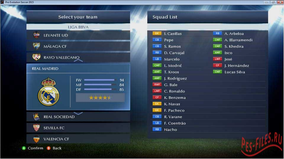 PES 2015 Update Winter Transfer Patch Pesgalaxy v2.51