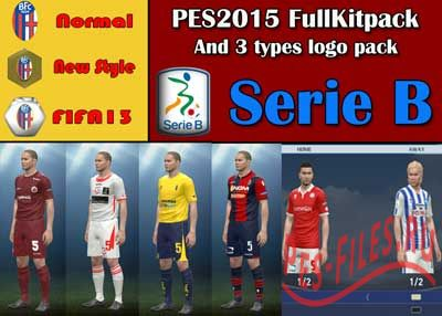Serie B All 22 teams kit And 3 type Logo Pack