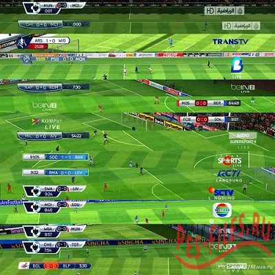 Big scoreboards pack для PES 2013