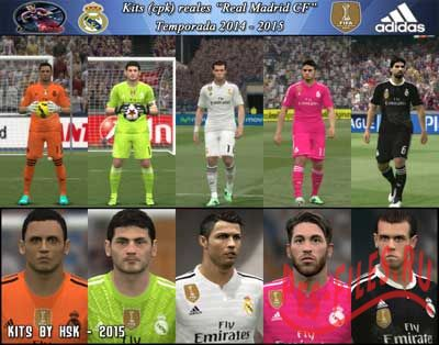PES 2015 Real Madrid CF Real Kits