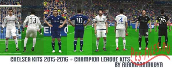 PES 2015 Chelsea Kits 2015-2016 + UCL