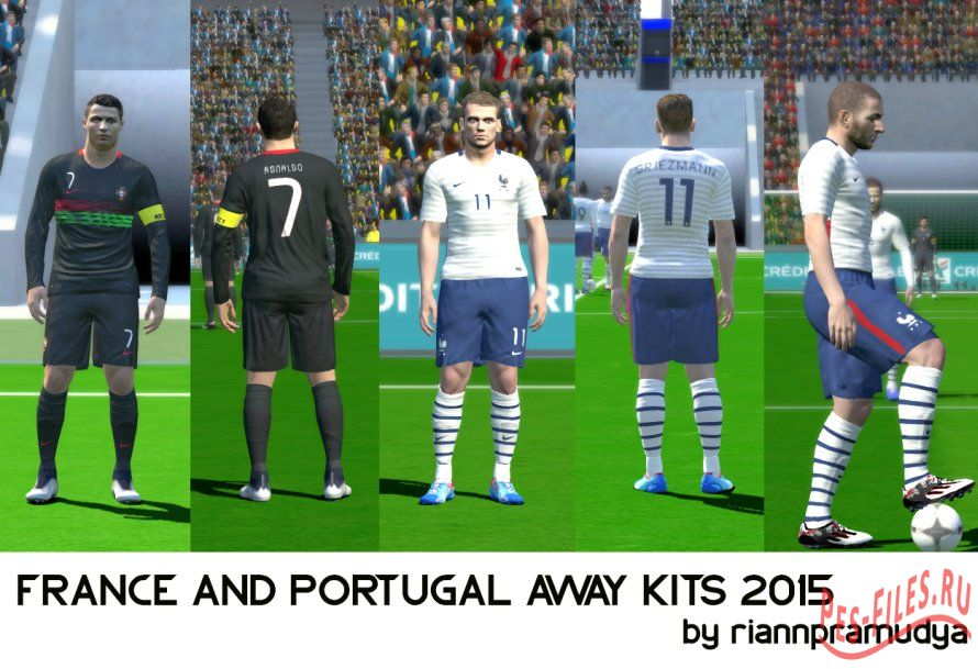 PES 2015 France and Portugal Away Kits 2015