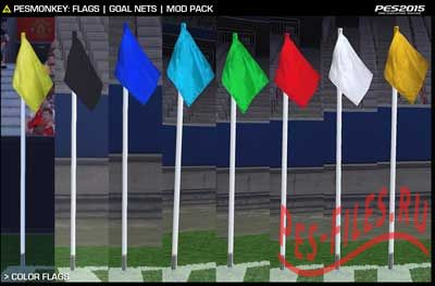 Pesmonkey - Flags & Goal Nets Mod Pack