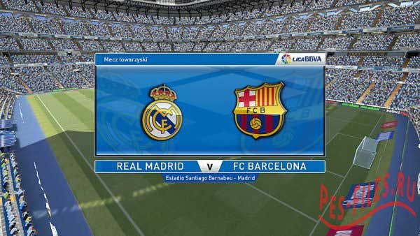 PES 2015 Liga BBVA Scoreboard + Replay Logo Final